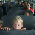 First bus ride to school